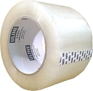 Packing Tape Inch 110 Yard 2 6 Mil Crystal Clear Heavy Duty By Uline Pack Of