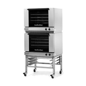 Moffat E28m4 2c Double Stacked Electric Turbofan Convection Oven With Casters