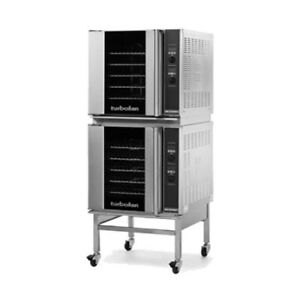 Moffat E32d5 2c Double Stacked Electric Turbofan Convection Oven With Casters