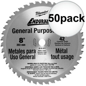 Milwaukee 48 40 4515 50pk 8 42 Tooth Cermet Tip Metal Cutting Saw Blade New