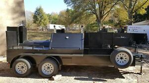 Mega Double Grill Master Bbq Smoker Grill Trailer Food Mobile Kitchen Catering