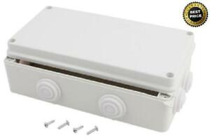 Electrical Junction Box Dustproof Universal Electric Project Enclosure White Box
