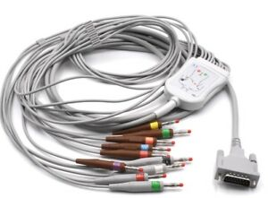Schiller One Piece Ekg ecg Cable 10leads Wire Aha Banana 4 0 Compatible