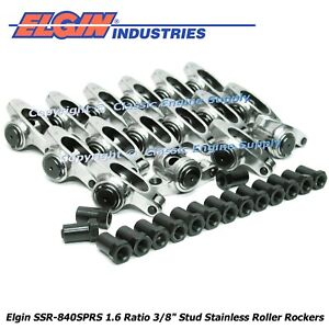 Stainless Steel Roller Rocker Arms 1 6 Ratio 3 8 Studs Chevy 400 350 327 305