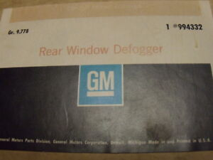 1971 1975 Chevrolet Belair Impala Caprice Nos Accessory Rear Window Defogger