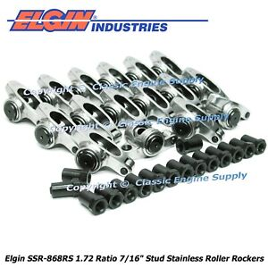 Stainless Steel Roller Rocker Arms Big Block Chevy 454 427 402 396