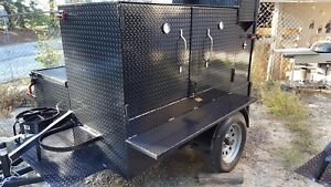 Bbq Smoker W Side Grill Trailer Food Truck Catering Street Vendor Concession