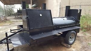 Mobile Bbq Smoker Grill Trailer Storage Catering Food Truck Concession Business