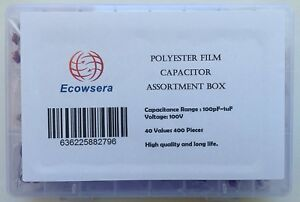 100v Polyester Film Capacitor Assorted Kit 40 Values 400 Pcs