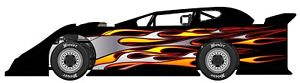 Race Car Wrap Flames Graphics Decals Imca Late Model Dirt
