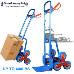 Steel Heavy Duty Stair Climbing Moving Dolly Hand Truck Warehouse Appliance Cart