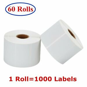 60 Rolls 2 25 x1 25 Direct Thermal Barcode Labels Zebra Lp2824 Tlp2824 Lp2844
