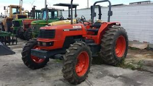 2002 Kubota M9000 4x4 Farm Tractor 90 Hp Ready To Work New Front Tires