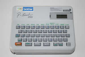 Brother P touch Electronic Label Maker Pt 2000