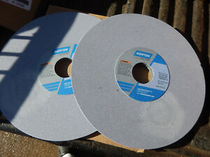 2 New Norton Surface Tool Grinder Grinding Wheel 8x 1 4 X 1 1 4 Arbor Lot 90