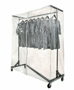 Commercial Grade Garment Black Base Z rack With Cover Supports Vinyl Cover