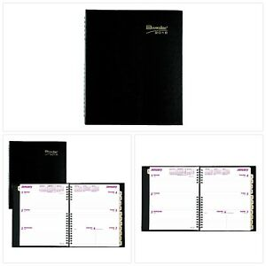 Brownline Coilpro Weekly 2018 Planner Black Hard Cover Twin wire 8 5 X 6 75