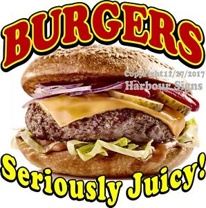 Burgers Decal choose Your Size Food Truck Concession Vinyl Sign Sticker