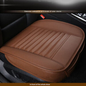 Car Truck Front Seat Covers Pu Leather Bamboo Sponge Hook Auto Chair Cushion Mat