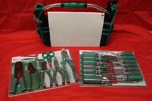 Electricians Tool Wire Strippers Pliers Screwdrivers And Tool Bag 22 piece Set
