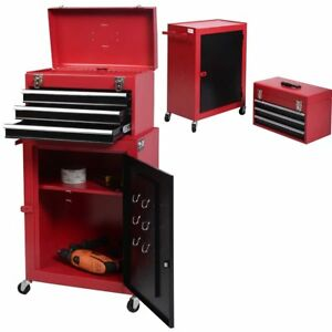 Cabinet Rolling Tool Chest Storage Box Toolbox Drawer Organizer On Wheel Garage