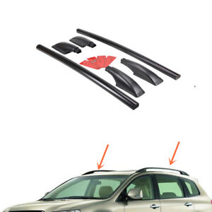 2pcs Top Roof Rack Rail Mount Aluminum Black For Subaru Tribeca 2008 2014