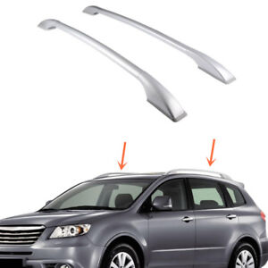 2pcs Top Roof Rack Rail Mount Aluminum Silvery For Subaru Tribeca 2008 2014