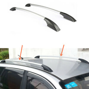 2pcs Top Roof Rack Rail Mount Aluminum Silver Black For Subaru Tribeca 2008 2014