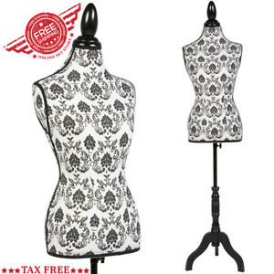 Tailors Female Mannequin Adjustable Dress Stand Form Sewing Torso Dummy Body New