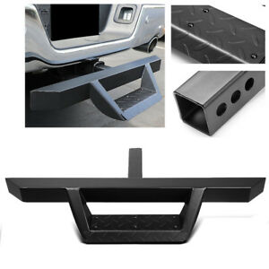 32 5 2 25 Tube Black Trailer Tow Hitch Step Bumper Protector For 2 Receiver