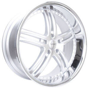22x9 22x10 5 5x127 Xix X15 Silver Machine Face Gmc Dodge Chevy Jeep Low Offset