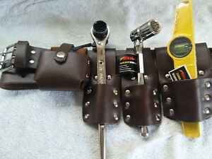 Durable Scaffolding Brown Leather Belt With Full Tools Set Quality Item