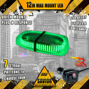 240 Led Light Bar Roof Top Warning Emergency Strobe 10ft Dual Rapid Switch Green