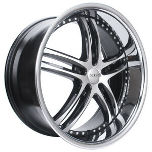24x9 5x127 Xix X15 Black Machine Face Gmc Dodge Chevy Jeep