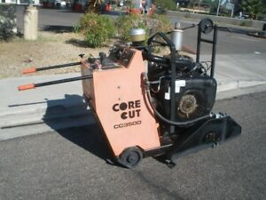 Core Cut Diamond Products Walk Behind Concrete Saw 164 Hrs 30 Hp