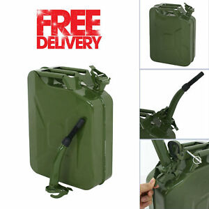 Fuel Jerry Can 5 Gallon 20l Spout Nozzle Army Nato Metal Military Steel Gas Tank