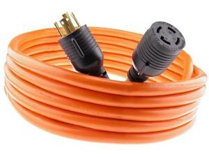 30 Amp 50 Ft Nema L14 30 4 Wire 10 Gauge 125 250v Generator Power Cord