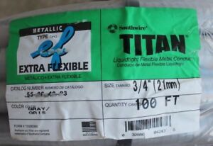 New Titan Southwire Extra Flexible Lightweight Metal 3 4 x100 Conduit 55094003
