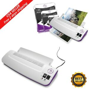 Thermal Laminator Machine W 100 Pack Hot Pouches Pockets Eco Friendly Fast Heat