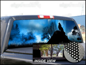 P223 Wolf Rear Window Tint Graphic Decal Wrap Back Pickup Graphics