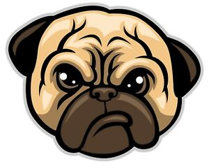 Pug Dog Decal Sticker Laptop Vehicle Car Truck Window Laptop Wall