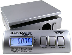 Myweigh Ultraship 75 Package Scale Silver Up To 75lbs Letter Rollenwaage U75