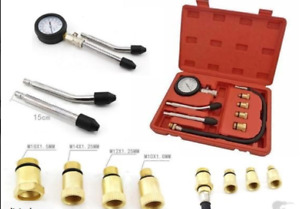 New 8pc Spark Plug Cylinder Compression Tester Test Kit Professional Gas Engine