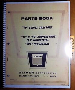 Oliver 90 99 Agriculture 99 900 Industrial Tractor Parts Book Catalog Manual 51