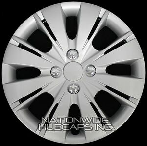 1 New 2006 17 Toyota Yaris 15 Hub Caps Wheel Rim Covers Snap On 4 Bolt Lug Hubs