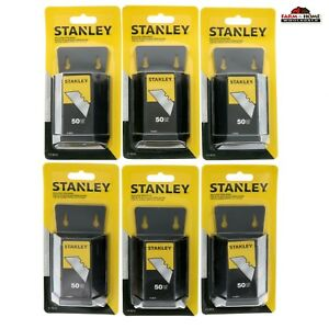 6 Stanley 50 Heavy Duty Utility Knife Replacement Blades New