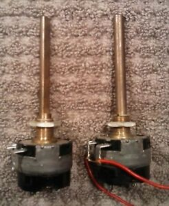 2 1951 Clarostat 1 Meg Pots With On off Snap Switch Long Shaft New Old Stock