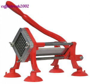 Vivo Commercial Grade Red 1 2 French Fry Cutter With Suction Feet Potato
