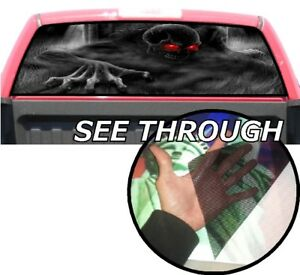P365 Skeleton Skull Rear Window Tint Graphic Decal Wrap Back Pickup Graphics