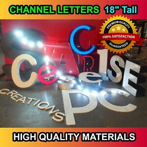 Store Sign Custom Made Signage Led Channel Letters 18 Tall Letters